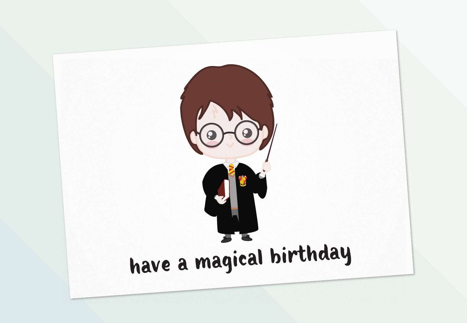 picture regarding Harry Potter Birthday Card Printable named Do it yourself Harry Potter Birthday Card Least complicated Offers Range