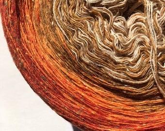 """0.03EUR/meter, 600 m Bourette-Silk/Wool/PA """"Pumpkin Harvest"""""""