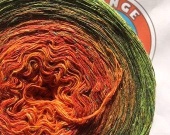 "0.03EUR/meter 600 m Bourette silk/wool/PA ""Autumn Forest"""