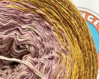 0.03EUR/meter, 900 m Bourette silk/wool/PA, unique piece