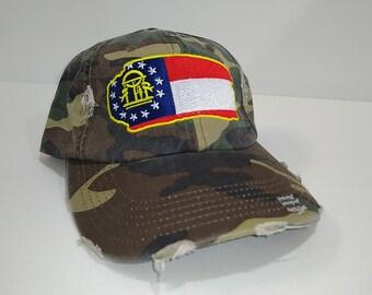 08491f336192ee GA Flag / Vintage / Dad Hat