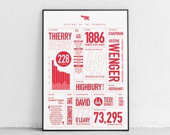 Arsenal: History Print (White)