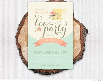 Tea Party Shower Invitation