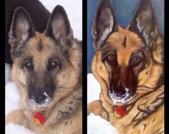 Custom Pet Portraits - Oil Paintings on Canvas