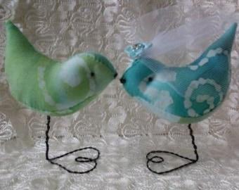 Cake Topper Tie Dyed Love Birds  Weddings Showers Nursery Decor Newburystreetchic  We Ship Internationally