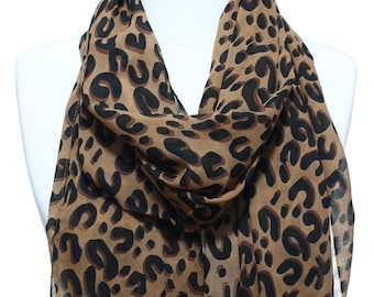 Leopard Print Woman Scarf Lightweight Womens Fashion Accessory Valentine s  Day Mother s Day Gift Ideas For Her Mom Girlfriends 021bf9f2e