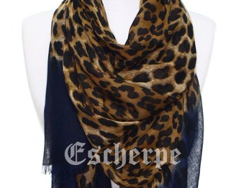 Leopard Print Navy Woman Scarf Lightweight Womens Fashion Accessory  Christmas Gift Ideas For Her Mom Girlfriend 3fdbc56cd