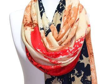 American Flag Scarf, Fourth Of July,July 4th,Independence Day,US Flag Scarf Man Woman Fashion Accessory Women Men Gift Ideas For Her For Him