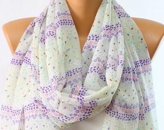 496e97540568 Foulard en mousseline de soie satin perle foulard Daisy Violet Floral foulard  écharpe légère Wrap femmes mode accessoires femmes foulards idées cadeaux
