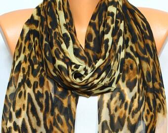 2fdaf4d0ed10 Léopard foulard écharpe pêche animaux foulard léger soyeux printemps de  foulard en mousseline de soie foulard écharpe d été idées cadeaux pour elle  pour ...