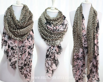 Pink Floral Paisley Leopard Print Woman Scarf Spring Summer Womens Fashion  Accessories Christmas Gift Ideas For Her Mom Girlfriend 313c447fe