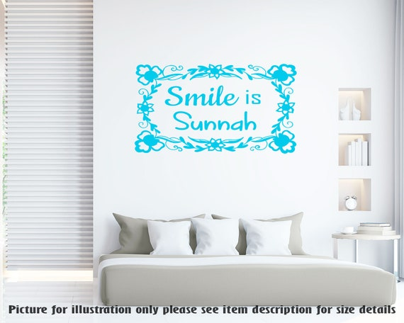 smile is sunnah islamic wall art sticker muslim home decor | etsy