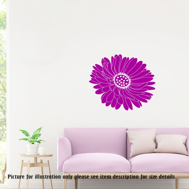 3 Large Daisies Vinyl Wall Art Stickers Decals 025