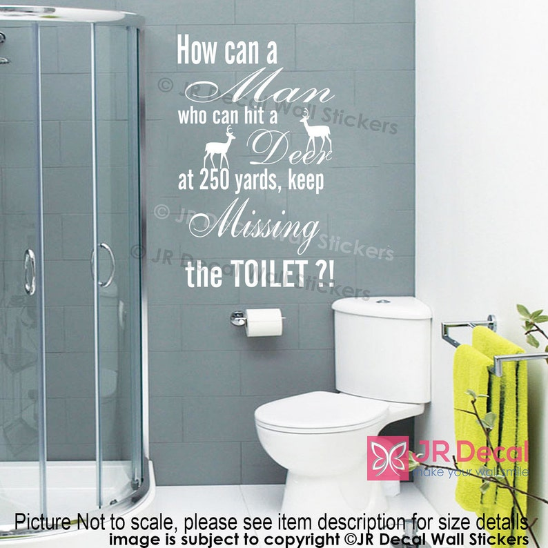 b1faa012ad7cf Funny Toilet sign Removable vinyl wall Stickers Funny quotes Wall Decals  Decor JRD-QW-38