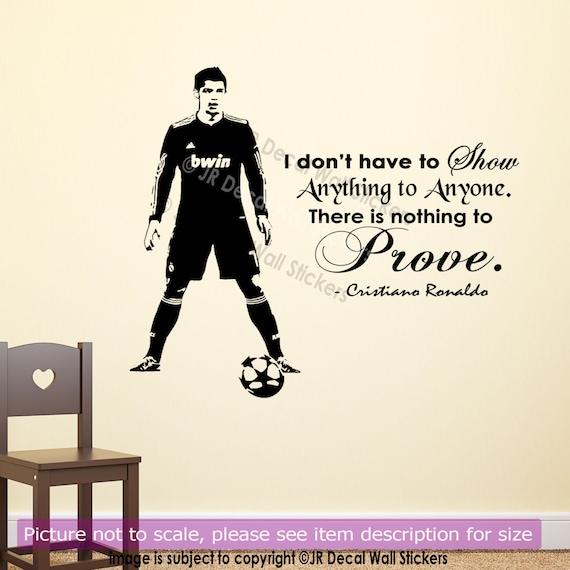 cristiano ronaldo wall quote wall stickers real madrid fc | etsy