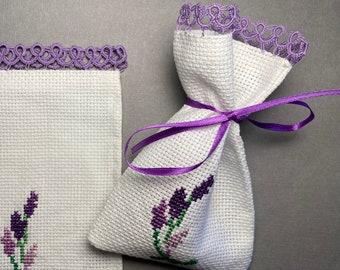 Empty Potpourri Bag, Tatting Bag, Lavender Bag, Cross Stitch Bag, Sachet bags, Party favors, wedding favor, cross-stitch sachet