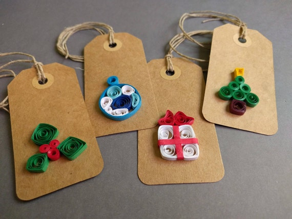 christmas tags christmas quilling tags quilling tags paper etsy