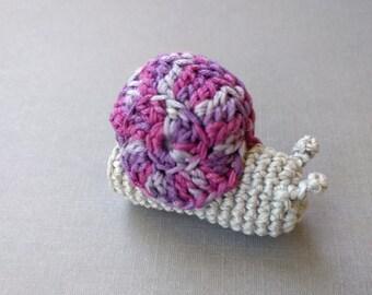 Cute Snail Finger Puppet, Amigurumi Snail Crochet Finger Puppets