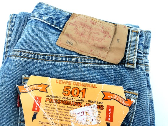 34 1990s jeans Vintage original L 501 W UK in made 29 Levi's 0HqBHpW1