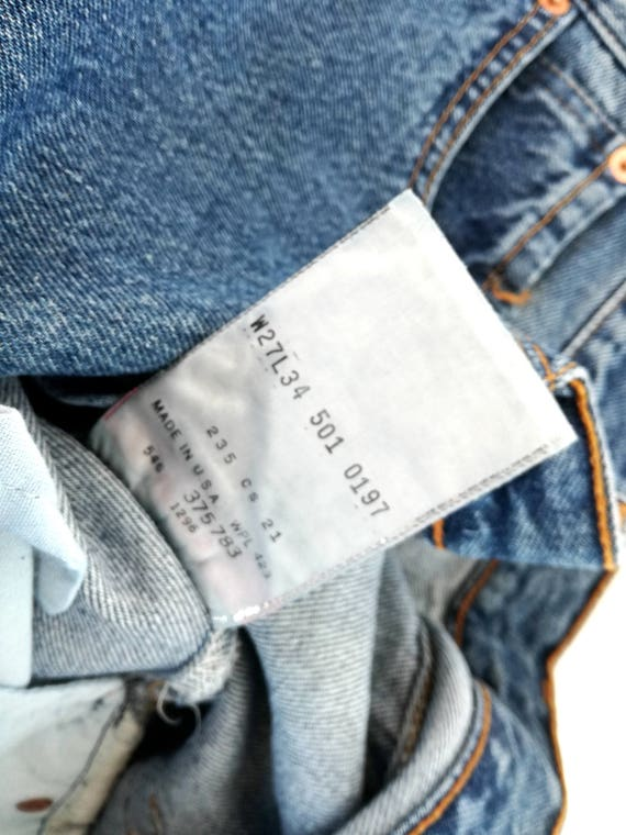 in 27 Made 34 90s 501 L Vintage Levi's original W USA 1xqIxz7R