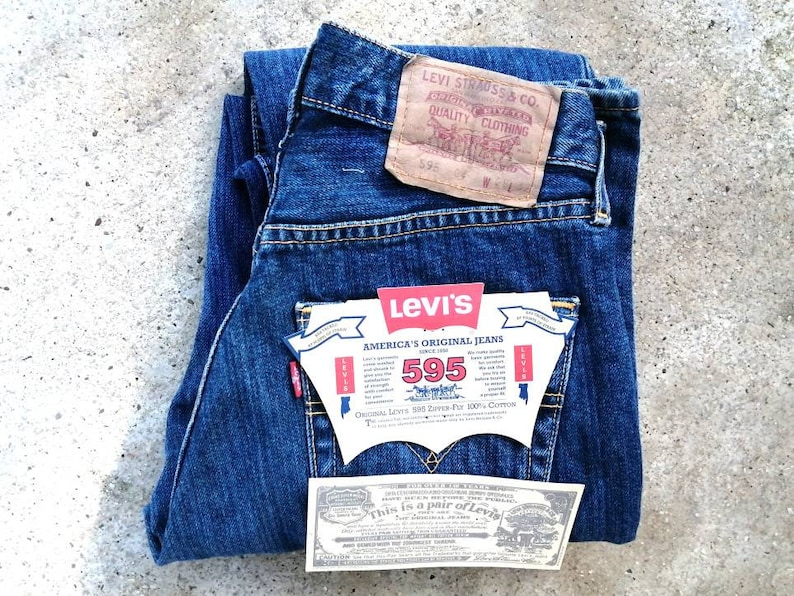 Vintage Levi/'s original 595 W 28 L 32 from the 1990s