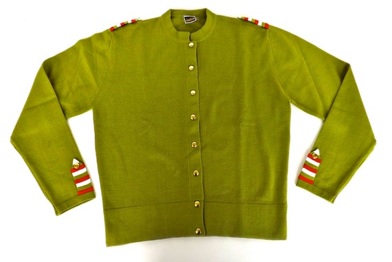 size made wool Vintage 1960s italy cardigan in M wfSqCqOx7