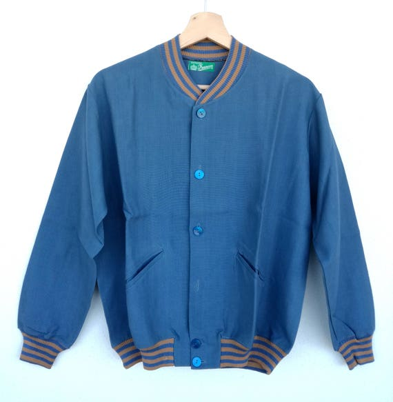 and M Vintage size jacket 1960s wool S cotton made bomber in italy Oxaqfaw