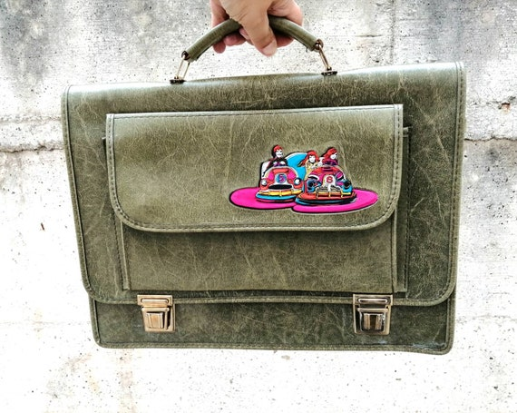 Vintage skay briefcase made in Italy, 1970s