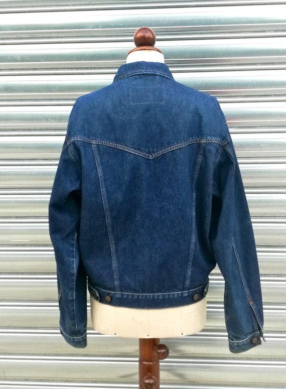 Wrangler S jeans jacket 1980s Vintage size wqPR8xFn