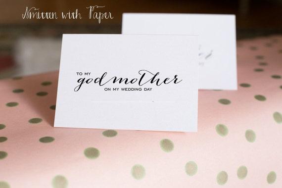 Mariage Jour Merci Carte à Ma Marraine Calligraphie C03