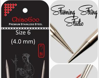 US 6 (4.0mm) Chiaogoo Red Lace Circulars - Choice of Length