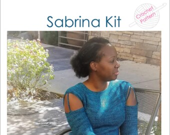 Sabrina Crochet Sweater Yarn Kit - your choice of colors