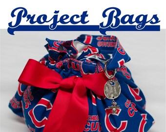 New Baseball - Plum Creek Knitting Project Bag - Choice of 2 Sizes (BB)