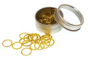 Large Metal Ring Stitch Markers
