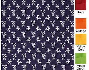 Dutch Windmills - Plum Creek Knitting Project Bag - Choice of Size (1201)