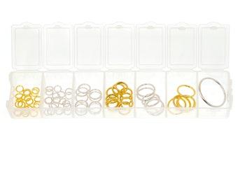 Metal Ring Stitch Markers Assortment