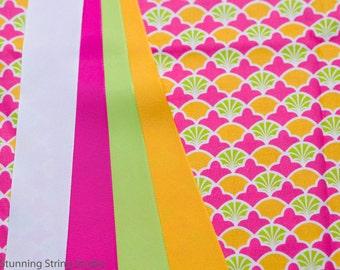 Fans & Fluer de Lis - Plum Creek Knitting Project Bag - Choice of Size (1053)