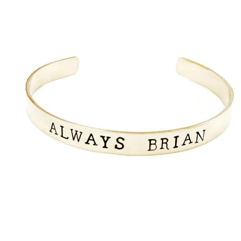 ad436c6d1bb Personalized Bracelet for Her Sterling Silver Custom Cuff   Etsy