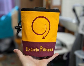 Harry Potter Expecto Patronum Rock Climbing Chalk Bag | Gift For Climber | Unique Personalized Gift | Christmas Gift Climber | Custom Gift