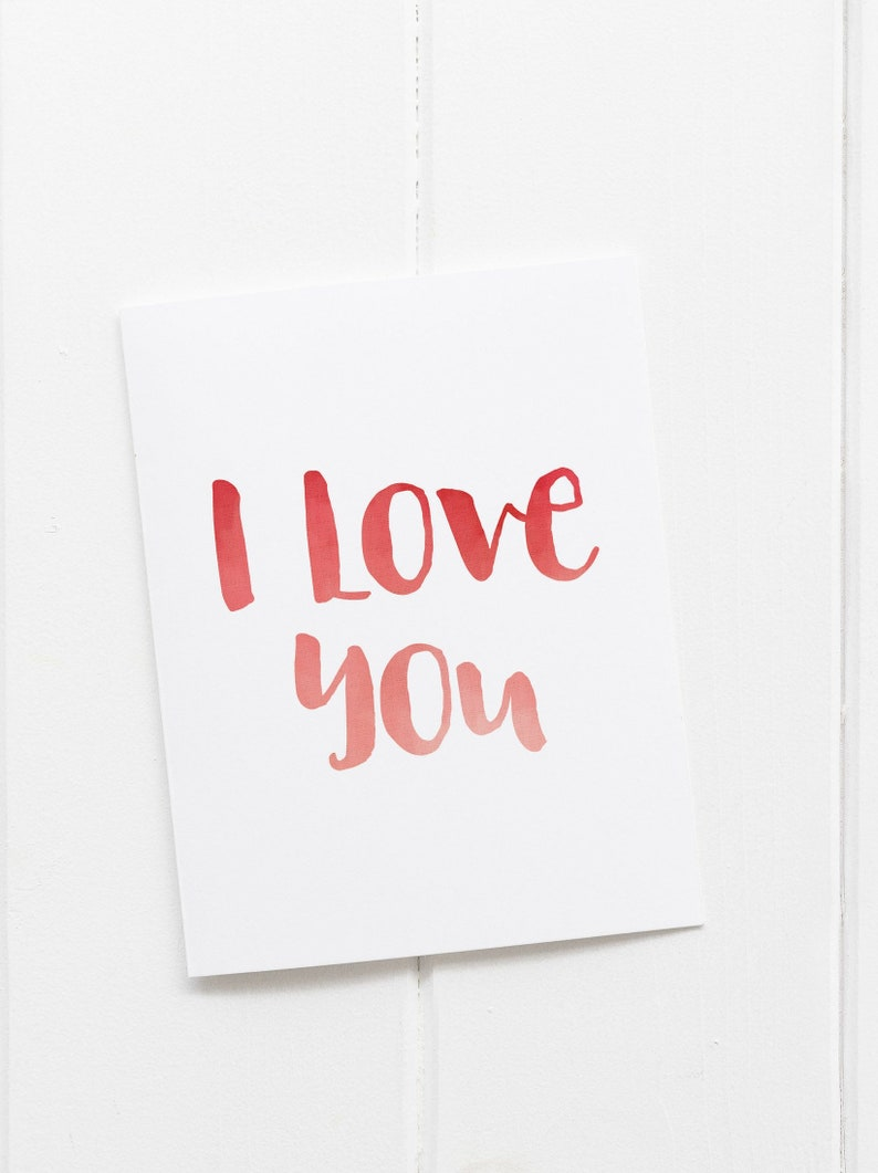 graphic about I Love You Printable titled I Get pleasure from By yourself Printable Valentines Working day Card - downloadable card - Intimate valentine - hand lettered valentine