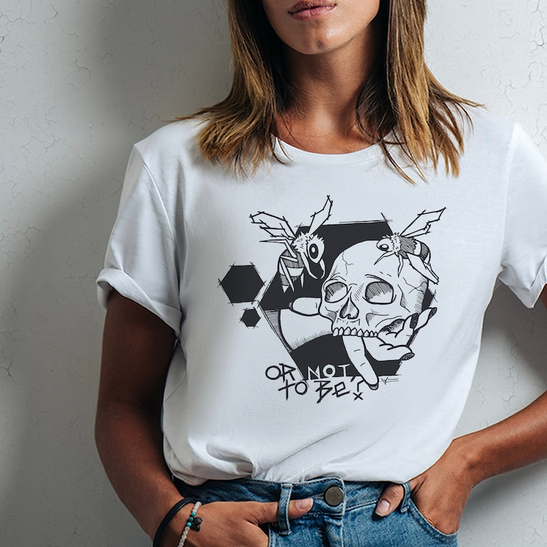 Tees for women  Animal bee lover quote Skull love alveole fun image 0