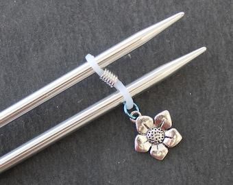 Flower Knitting Needle Minder or needle hugger.