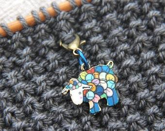 Sheep Progress Keepers - fabric & notions, stitch markers, charms, knitters, yarn, knitting jewelry, knitting gift, knitting keeper, knitter