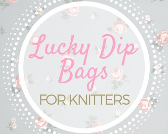 LUCKY DIP BAG containing stitch markers for Knitters - lucky dip, lucky bag, lucky dip box, lucky dip pack, lucky box, random dip, mystery