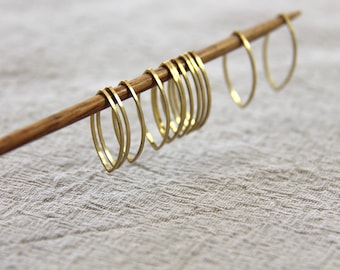 12 MARQUISE Stitch markers for knitting - knitting supplies, snag free, knitting markers, knitting tools, stitchmarkers, Rebecca's Room