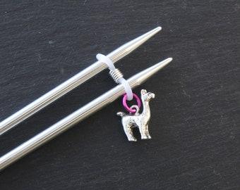 Alpaca Knitting Needle Minder or needle hugger.