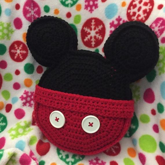 Häkeln Kissen Sonderanfertigung Inspiriert Mickey Mouse Symbol Etsy