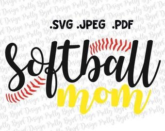 Softball Svg Softball Mom Svg Softball Mom Circle Monogram Etsy