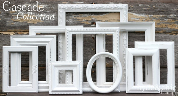 White Shabby Chic Picture Frames Shabby Chic Home Decor Etsy