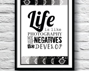 Typographic poster, Motivational wall decor, Quote poster, Inspirational quote, Wall Art, Housewares, Poster print, Housewarming gift